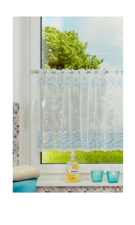 moderne stoffe tragen zum siegeszug der gardine im badezimmer bei. Black Bedroom Furniture Sets. Home Design Ideas